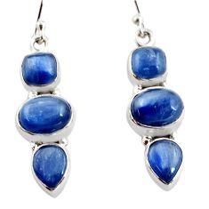 12.40cts natural blue kyanite 925 sterling silver earrings jewelry r12317