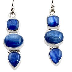 12.64cts natural blue kyanite 925 sterling silver earrings jewelry r12318