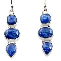 925 sterling silver 12.40cts natural blue kyanite earrings jewelry r12319