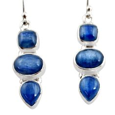 12.40cts natural blue kyanite 925 sterling silver earrings jewelry r12320