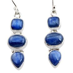 925 sterling silver 12.40cts natural blue kyanite earrings jewelry r12335