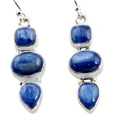 12.40cts natural blue kyanite 925 sterling silver earrings jewelry r12336