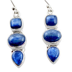 12.40cts natural blue kyanite 925 sterling silver earrings jewelry r12337