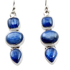 925 sterling silver 12.40cts natural blue kyanite earrings jewelry r12338