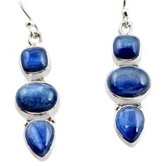 12.04cts natural blue kyanite 925 sterling silver earrings jewelry r12339