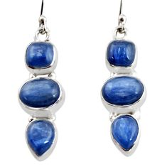 12.40cts natural blue kyanite 925 sterling silver earrings jewelry r12340