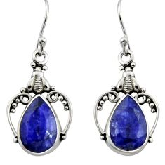 8.44cts natural blue sapphire 925 sterling silver dangle earrings jewelry r13383