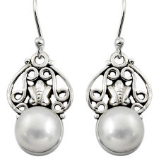 6.43cts natural white pearl 925 sterling silver dangle earrings jewelry r13400