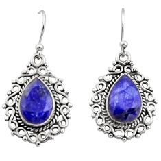 9.09cts natural blue sapphire 925 sterling silver dangle earrings jewelry r13431