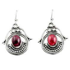 4.46cts natural red garnet 925 sterling silver earrings jewelry r13465