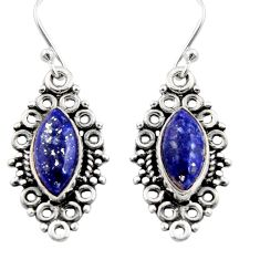 9.37cts natural blue lapis lazuli 925 sterling silver earrings jewelry r13473