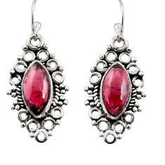 925 sterling silver 10.32cts natural red garnet earrings jewelry r13475