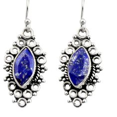 9.86cts natural blue lapis lazuli 925 sterling silver earrings jewelry r13476