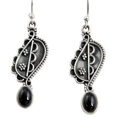 3.32cts natural black onyx 925 sterling silver dangle earrings jewelry r13831