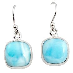 10.08cts natural blue larimar 925 sterling silver dangle earrings jewelry r14721