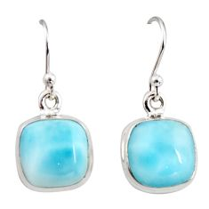 10.76cts natural blue larimar 925 sterling silver dangle earrings jewelry r14723