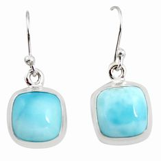 10.76cts natural blue larimar 925 sterling silver dangle earrings jewelry r14725