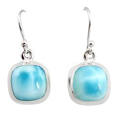 10.76cts natural blue larimar 925 sterling silver dangle earrings jewelry r14726