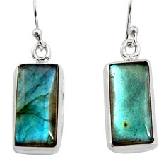 925 sterling silver 11.64cts natural blue labradorite dangle earrings r14773