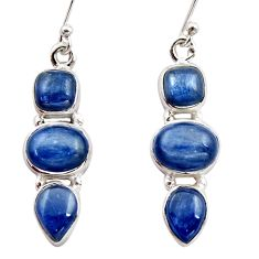 13.71cts natural blue kyanite 925 sterling silver dangle earrings jewelry r15761