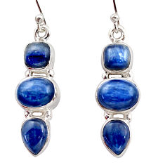13.69cts natural blue kyanite 925 sterling silver dangle earrings jewelry r15762