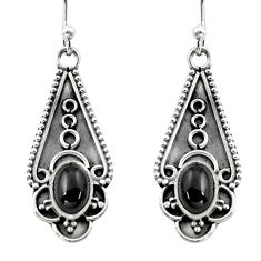 925 sterling silver 3.51cts natural black onyx dangle earrings jewelry r15797