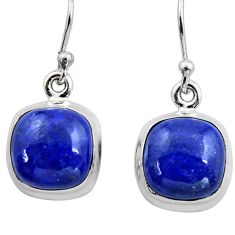 10.31cts natural blue lapis lazuli 925 sterling silver dangle earrings r15884