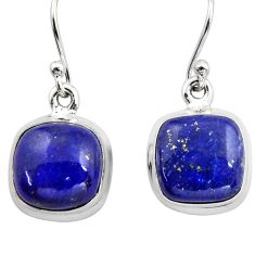 10.02cts natural blue lapis lazuli 925 sterling silver dangle earrings r15885