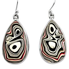 16.18cts fordite detroit agate 925 sterling silver dangle earrings r15914