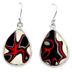 16.20cts fordite detroit agate 925 sterling silver dangle earrings r15918