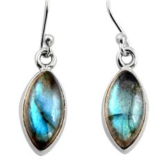 925 sterling silver 7.97cts natural blue labradorite dangle earrings r15960
