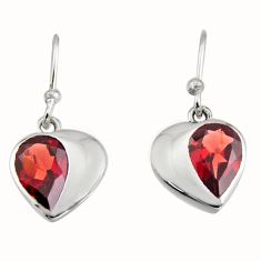 4.24cts natural red garnet 925 sterling silver dangle earrings jewelry r7005