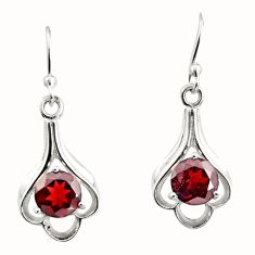 5.15cts natural red garnet 925 sterling silver dangle earrings jewelry r7016