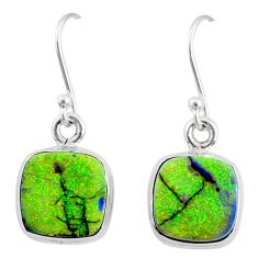 6.93cts multi color sterling opal 925 sterling silver dangle earrings r70165