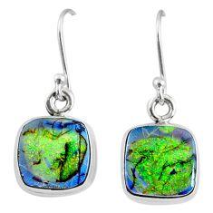 6.90cts multi color sterling opal 925 sterling silver dangle earrings r70167