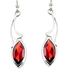 7.66cts natural red garnet 925 sterling silver dangle earrings jewelry r7025