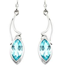 8.12cts natural blue topaz 925 sterling silver dangle earrings jewelry r7026