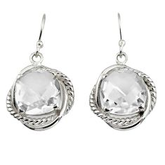 10.89cts natural white topaz 925 sterling silver dangle earrings jewelry r7091