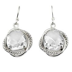 925 sterling silver 11.22cts natural white topaz dangle earrings jewelry r7093