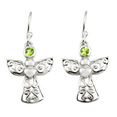 925 sterling silver 0.74cts natural green peridot dangle earrings jewelry r7404
