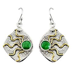 925 sterling silver 2.74cts natural green emerald earrings jewelry r9388