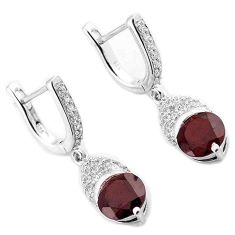 AMAZING NATURAL RED RHODOLITE TOPAZ 925 SILVER DANGLE EARRINGS JEWELRY H16129