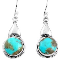 10.43cts blue arizona mohave turquoise 925 silver dangle earrings p85628