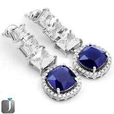BLUE SAPPHIRE QUARTZ TOPAZ 925 STERLING SILVER DANGLE EARRINGS JEWELRY F95052