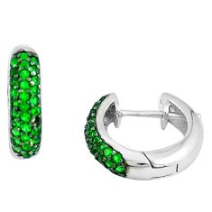 2.14cts green emerald (lab) 925 sterling silver dangle earrings jewelry c1393