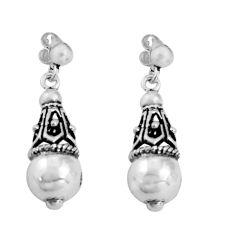 5.47gms indonesian bali style solid 925 sterling silver dangle earrings c5323