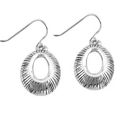 2.89gms indonesian bali style solid 925 sterling silver earrings jewelry c4586