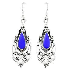 925 silver blue lapis lazuli enamel dangle earrings jewelry c11830
