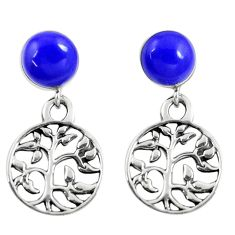 925 silver 4.53cts blue lapis lazuli tree of life earrings jewelry c11709