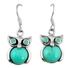 925 silver fine green turquoise enamel owl earrings jewelry a58839 c14313